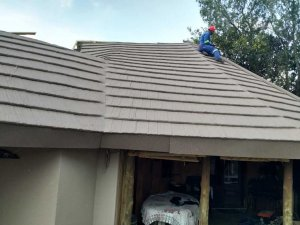 dycon roofing work in progress